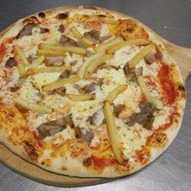 Pizza Kebab con Patatine